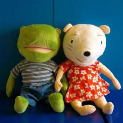 klaspoppen Nellie en Cezar